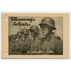 """Flemish SS recruitment folder + integrated """"SS Sturmbrigade Langemack"""" recruitment form"""