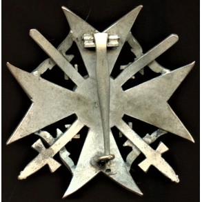 """Spanish cross in silver with swords by Paul Meybauer """"L/13"""""""