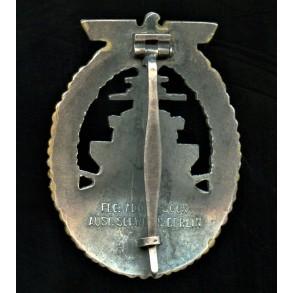 Kriegsmarine high sea fleet badge, by Schwerin, Berlin