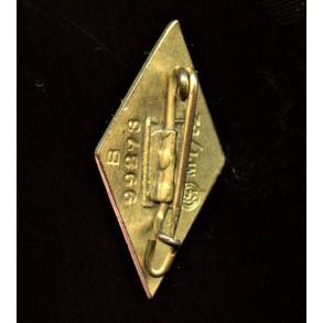 """HJ Honour badge in gold by Deschler & Sohn """"M1/52"""""""