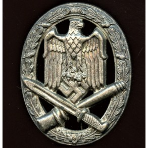 """General assault badge by Karl Wurster K.G. """"small w"""" tombak coated"""