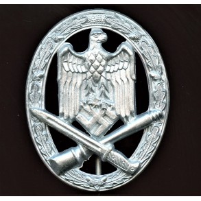 "General assault badge in silver by F.W. Assmann & Sohn ""4"""