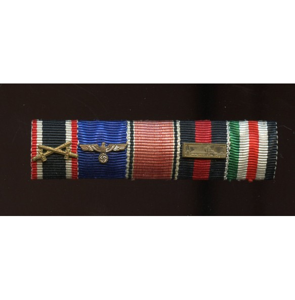 5 place ribbon bar with German Italian Africa campaign medal