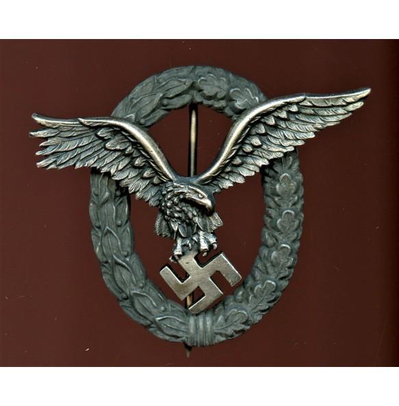 """Luftwaffe pilot badge by C.E. Juncker """"J3-J4"""""""