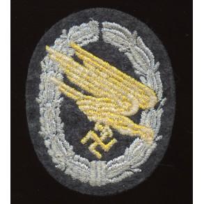 Luftwaffe paratrooper badge in cloth