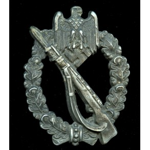 "Infantry assault badge in silver by F.W. Assmann & Sohn ""A"""