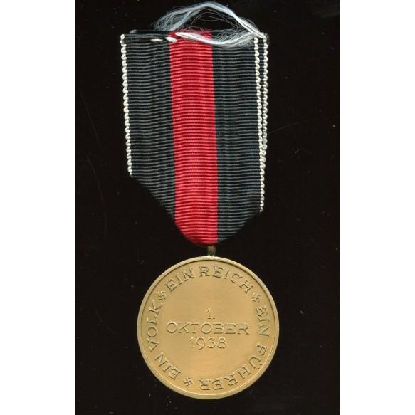 1. October 1938 Czech annexation medal MINT