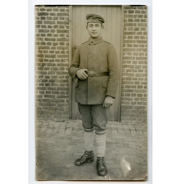 1914-1918 Photo with decorated NCO, Infanterie Regiment 153, 1Kp