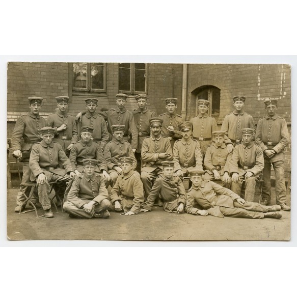 "1914-1918 German infantry unit photo with ""Der Spiess"""