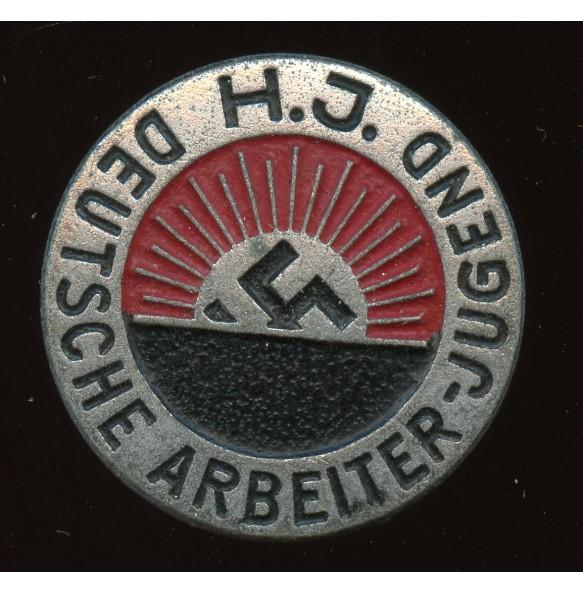 """HJ Deutsche Arbeiter Jugend membership pin by Steinhauer & Lück """"M1/63"""""""