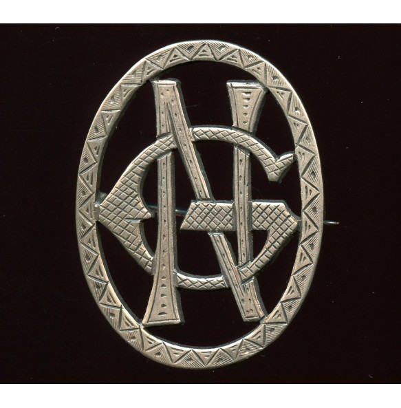 """Private made broach initials GN or NG """"Russland 1941"""""""