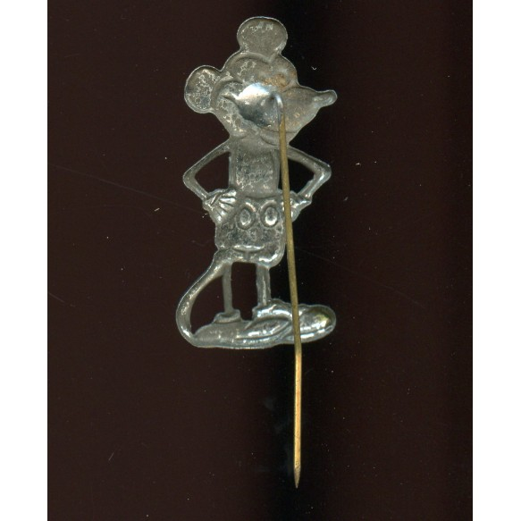 """Period pin """"Mickey Mouse"""", used as unit pin"""