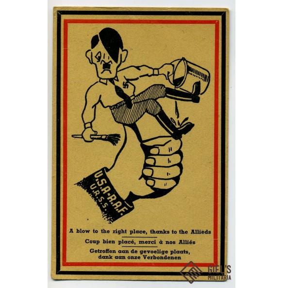 Cartoon postcard