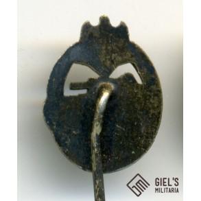 Panzer assault badge in silver miniature