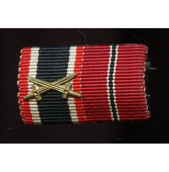 Ribbon bar war merit cross 2nc class / east front medal