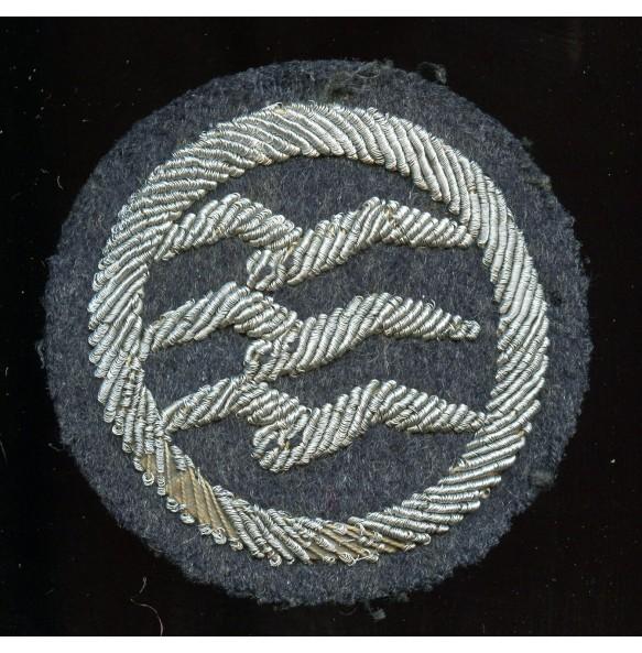 Luftwaffe DLV Glider pilot badge, grade C bullion