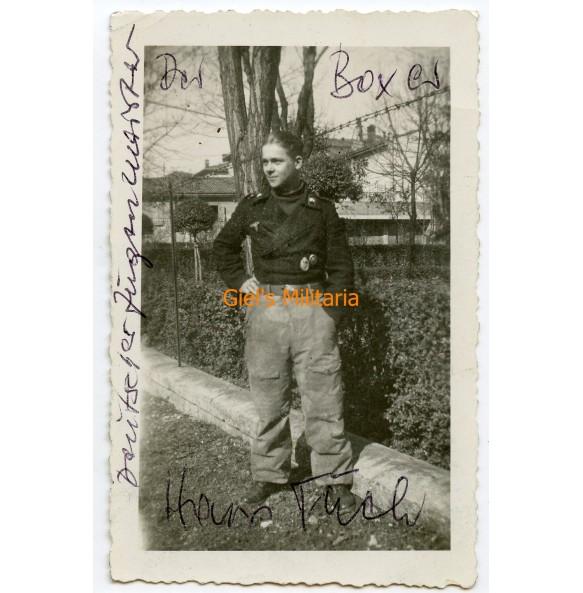 "Private photo panzer crew member ""Der Boxer"" 1945"