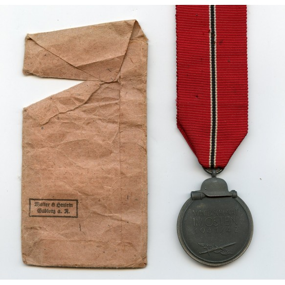 East front medal + package by Walter & Henlein Gablonz
