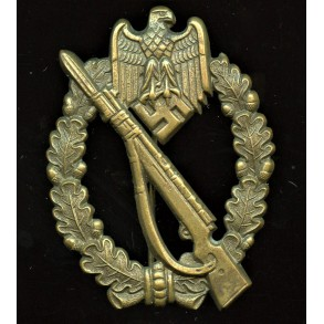 Infantry assault badge in bronze by Steinhauer & Lück