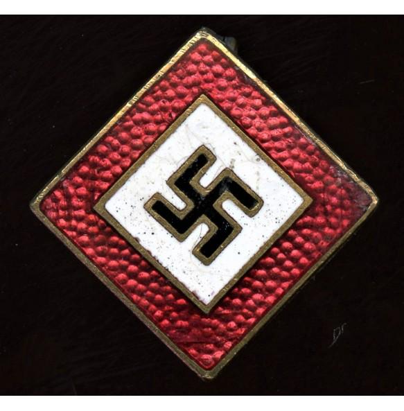 """Party sympathizer pin """"Deutschvölkische Freiheitsbewegung"""" square variant"""