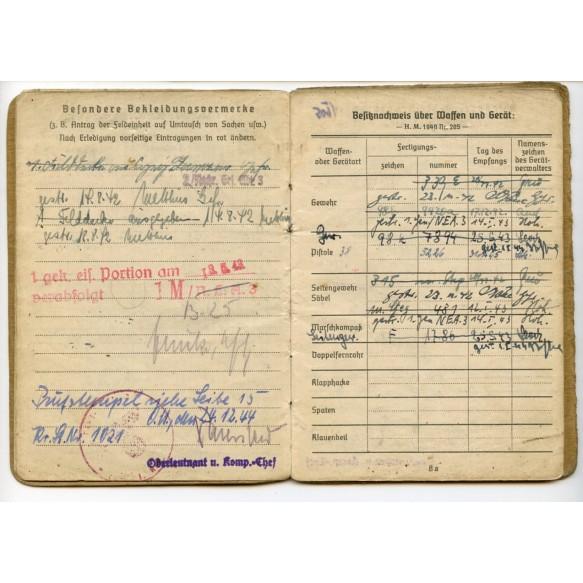 Soldbuch to Panzer member, Panzer-regiment 2, black wrapper photo