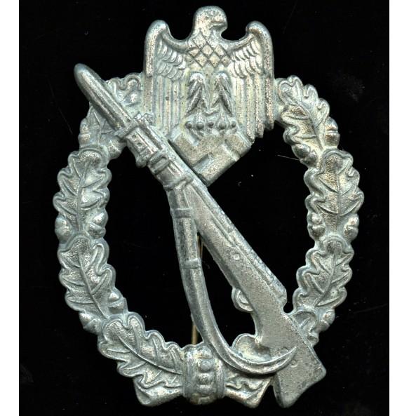 Infantry assault badge in silver by Richard Simm & Sohne, Gablonz