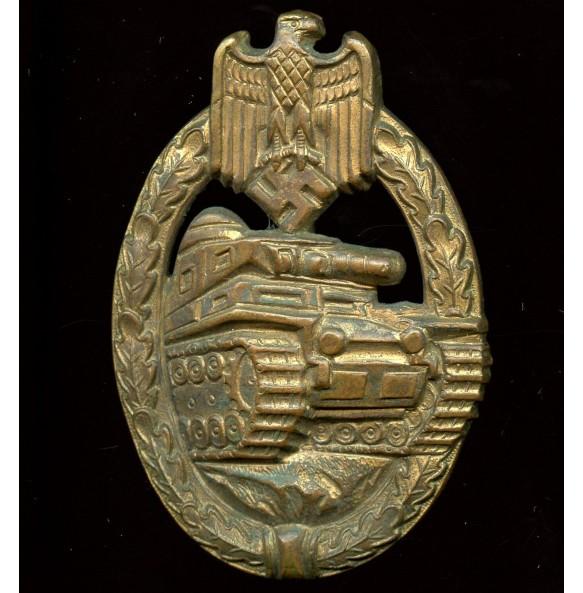 Panzer Assault Badge in bronze by Hymmen & Co