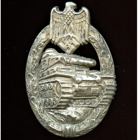 Panzer Assault Badge in silver by Hymmen & Co