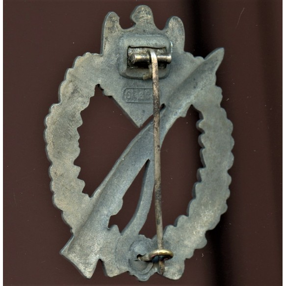 Infantry assault badge in silver by Grossmann & Co