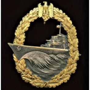 Kriegsmarine destroyer badge by Schwerin Berlin