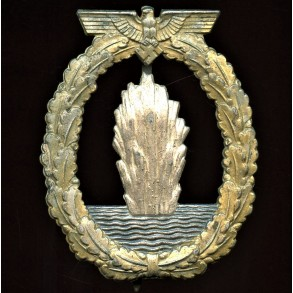Kriegsmarine minesweeper badge by Schwerin