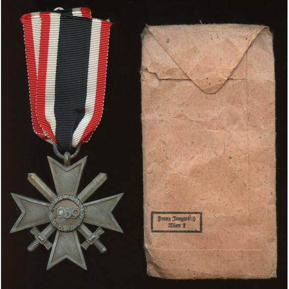 """War merit cross 2nd class by Frans Jungwirth """"45"""" + package"""