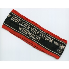 """Armband """"Deutscher Volksturm Wehrmacht"""""""
