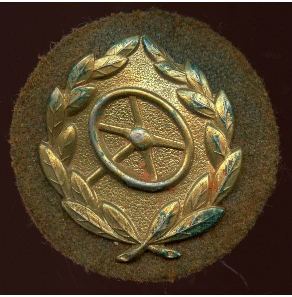Driver's proficiency badge in gold