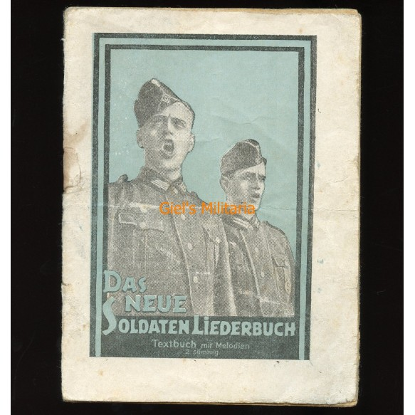 """Rare! Russian """"Passierschein"""" for German soldiers in shape of Songbook"""