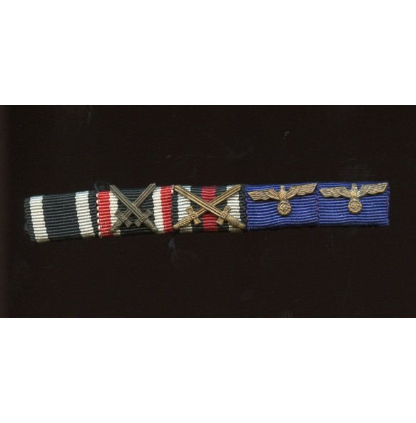 5 place sew on ribbon bar for army officer