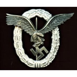 "Luftwaffe pilot badge by Gebr. Wegerhoff ""GWL"""