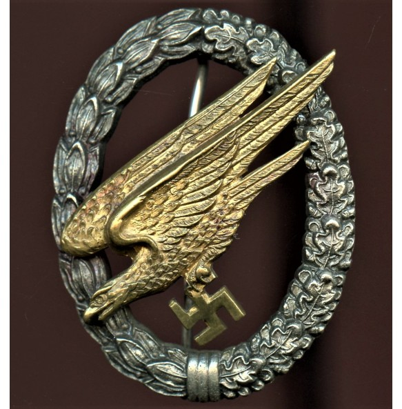 Luftwaffe paratrooper badge by IMME & Sohn, Juncker parts