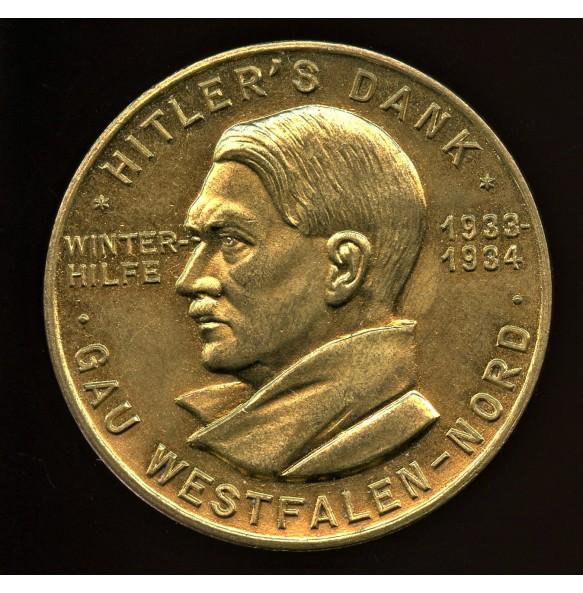 Hitler's Dank pin WHW Gau Westfaken by Paulmann & Crone
