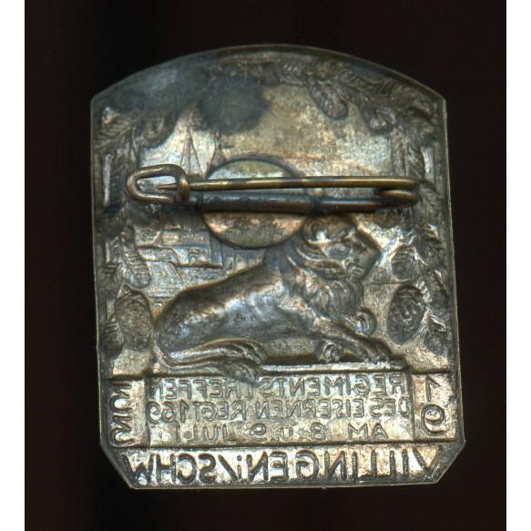 """Tinnie """"Regimentstreffen Eisernes Regiment 169 Villingen 1933"""""""