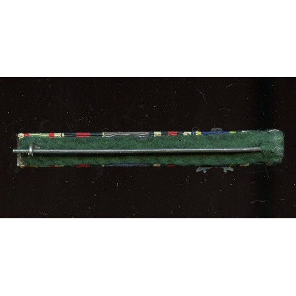 6 place Luftwaffe long service ribbon bar with iron cross clasp 2nd clasp