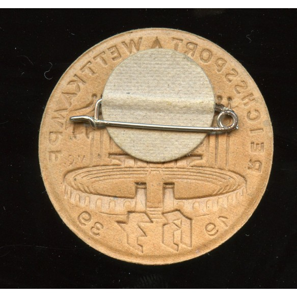 HJ Reichssport Wettkampf 1939 cardboard tinnie