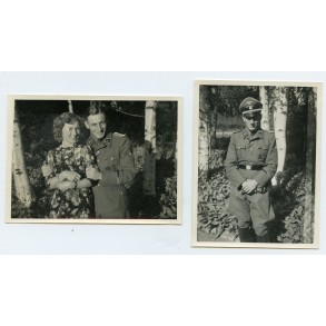 """2 private photos of a decorated SS-Hauptscharführer """"Nordland"""""""