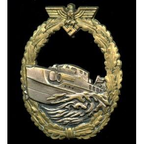 Kriegsmarine S-boat badge by Schwerin Berlin, 1st pattern!
