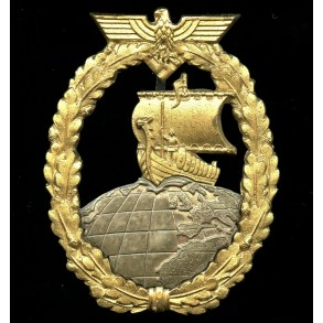Kriegsmarine auxiliary cruiser badge by C.E. Juncker
