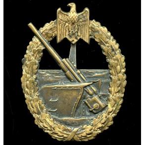 Coastal artillery badge by C.E. Juncker