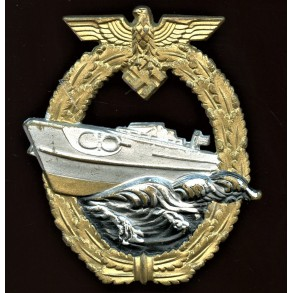 Kriegsmarine S-boat badge, 2nd pattern by AS in triangle