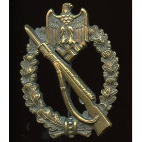Infantry assault badge in bronze by Karl Wurster K.G