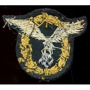 Luftwaffe pilot observer badge in bullion