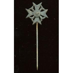 Spanish cross in silver w/o swords miniature
